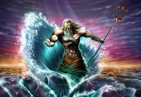 Poseidon Has Taken Up Spearfishing