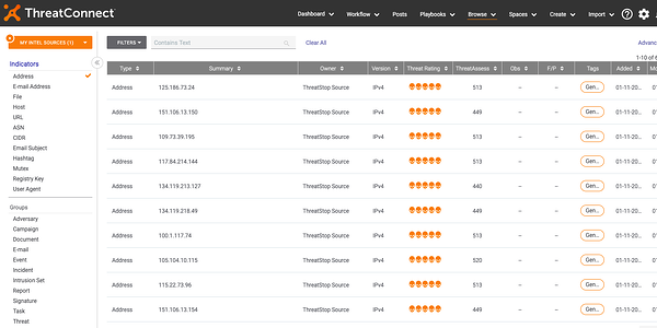 ThreatSTOP launches built-in ThreatCONNECT Integration