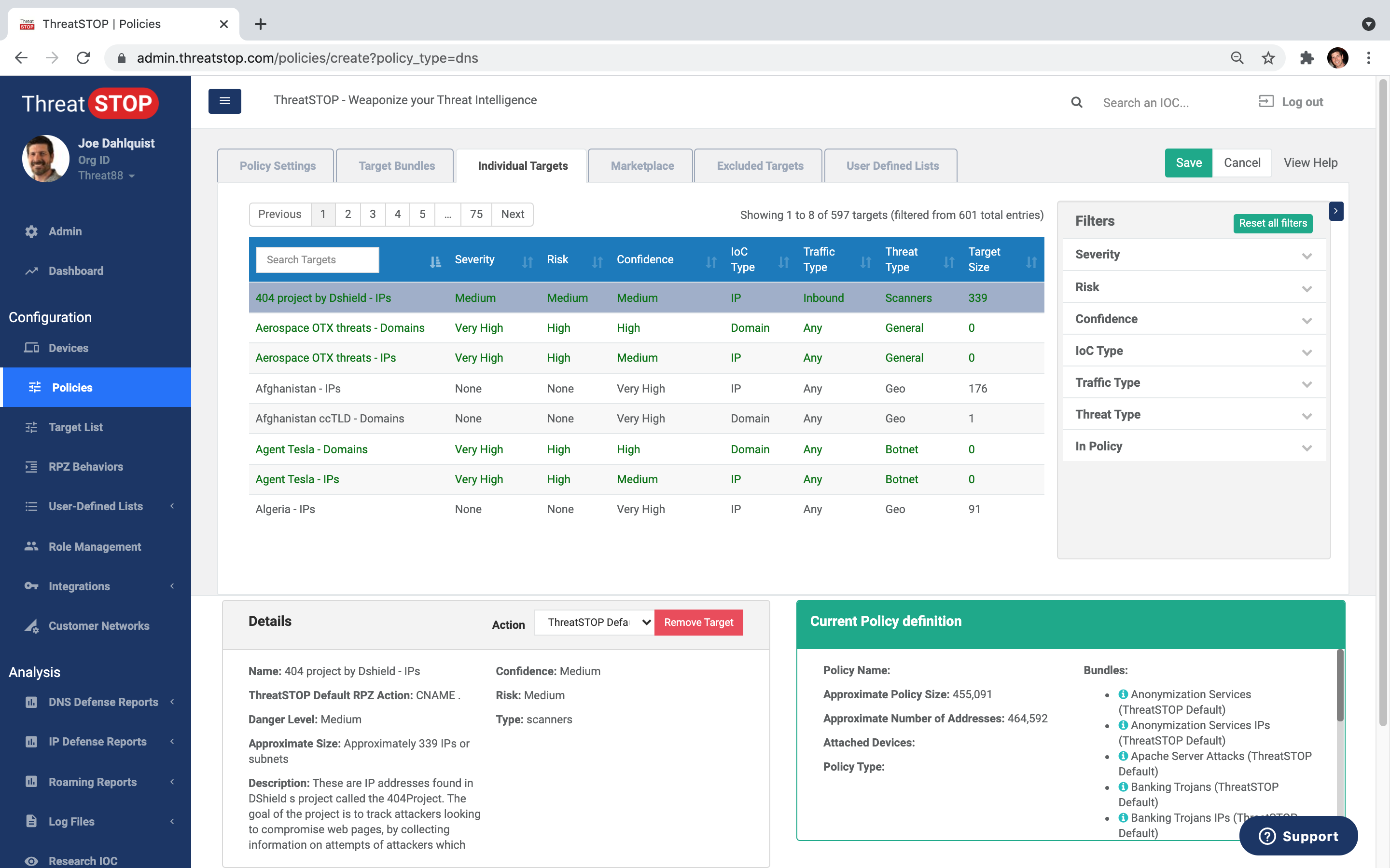 Policy Management UI
